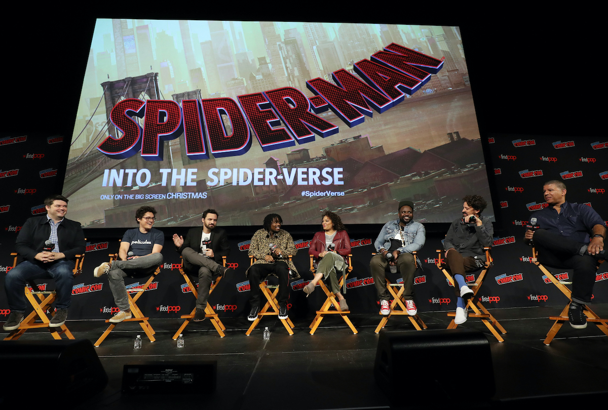 The cast and crew of 'Spider-Man: Into the Spider-Verse' at New York Comic Con