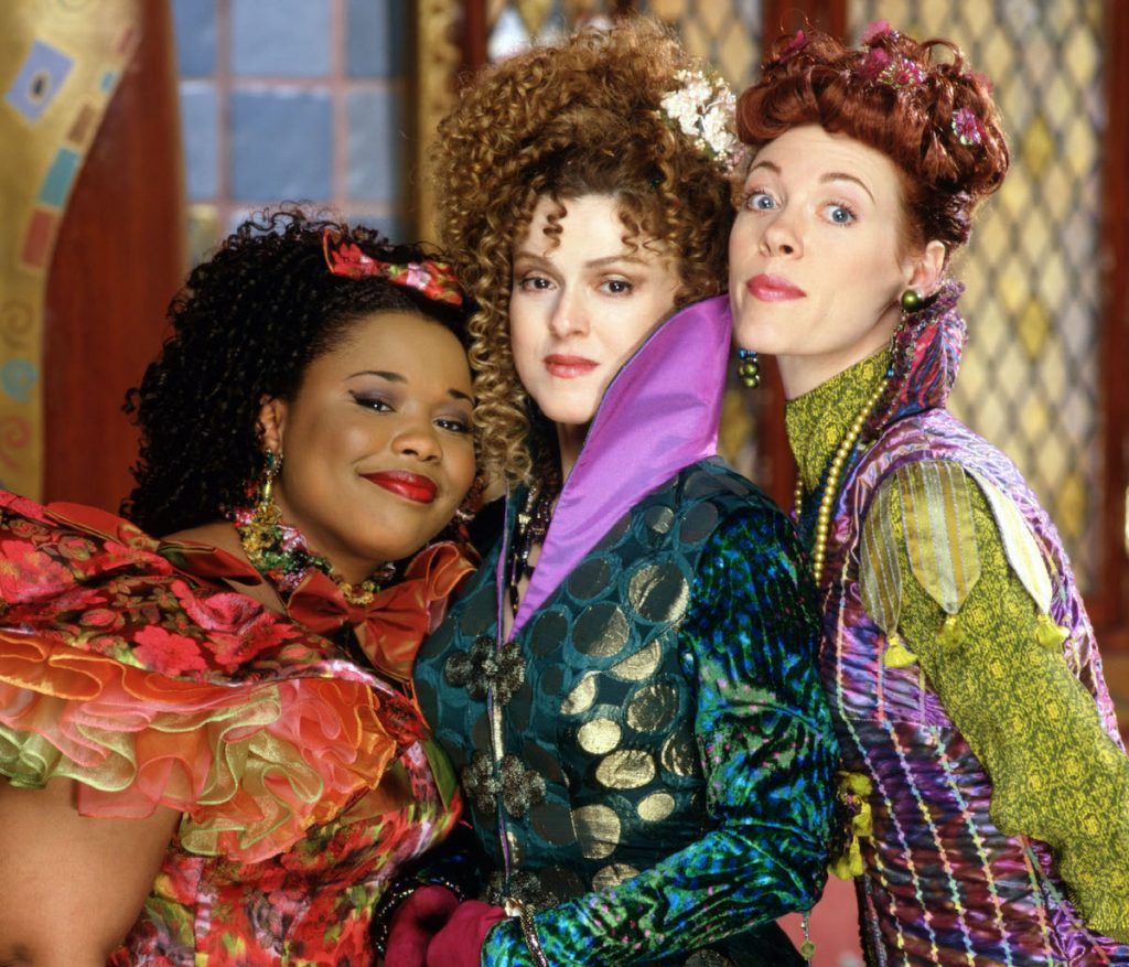 Natalie Desselle-Reid as Minerva, Bernadette Peters as the Evil Stepmother, and Veanne Cox as Calliope (L-R) in 'Rodgers and Hammerstein's Cinderella' on ABC, 1997   Disney