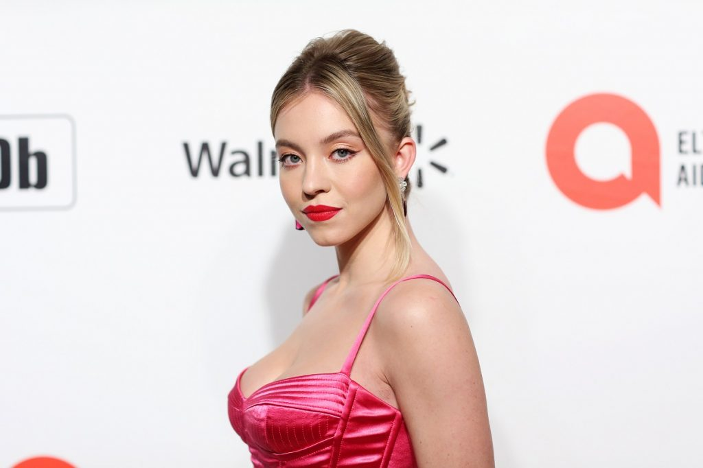 Sydney Sweeney attends an Oscar viewing party