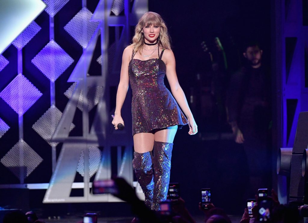 Taylor Swift performs onstage during the Z100's iHeartRadio Jingle Ball 2019