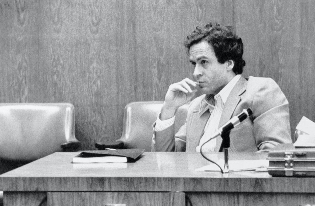 Serial killer Ted Bundy on trial for the murder of Kimberly Leach