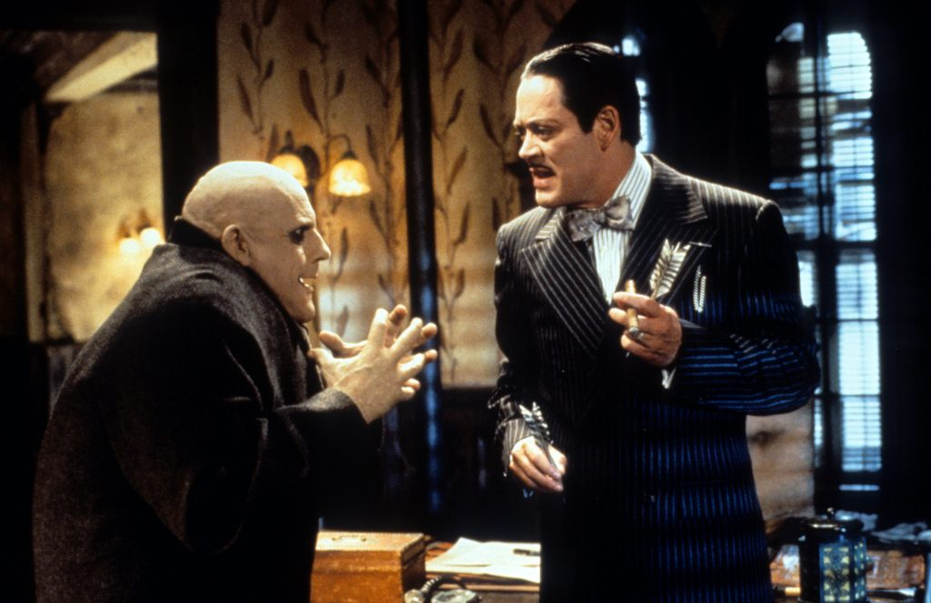 (L-R) Christopher Lloyd and Raul Julia in 'Addams Family Values'