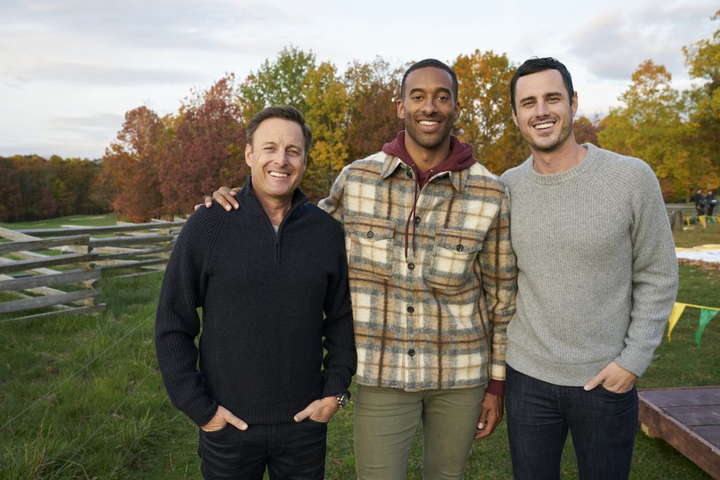 Chris Harrison, Matt James, and Ben Higgins on 'The Bachelor.' Reality Steve has been the go-to person for 'Bachelor' spoilers.