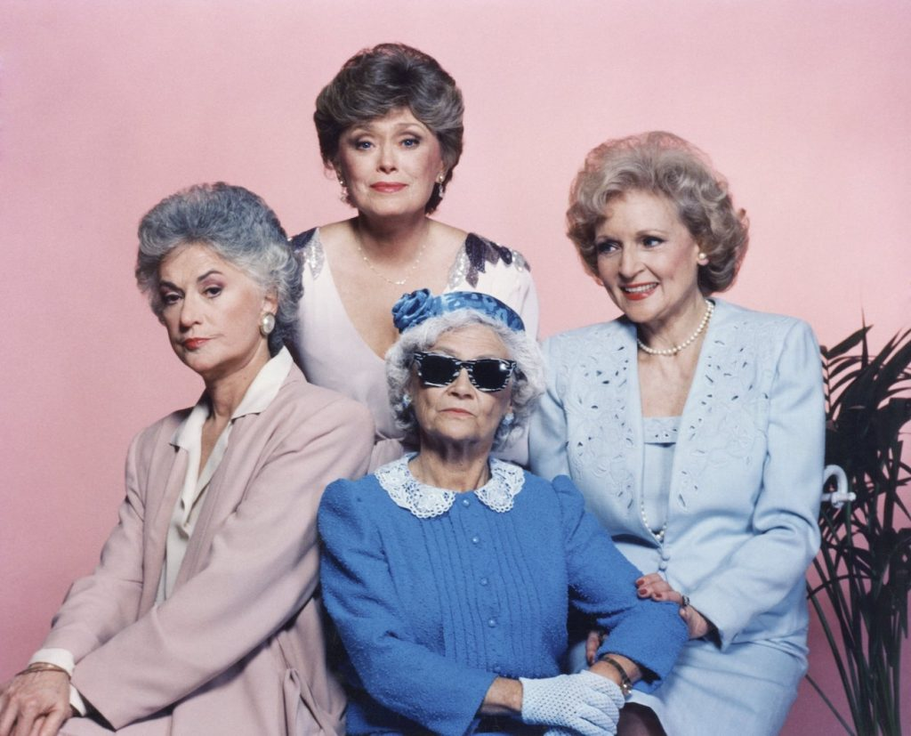 The Golden Girls cast posed for a group photo