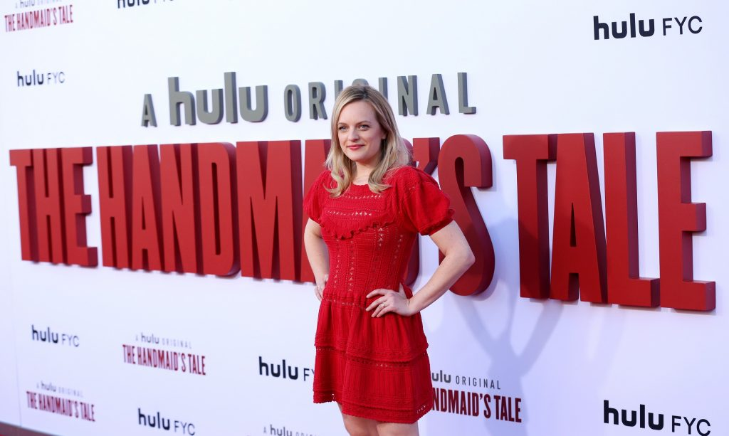 Elisabeth Moss at the premiere of the Season 3 finale of 'The Handmaid's Tale'