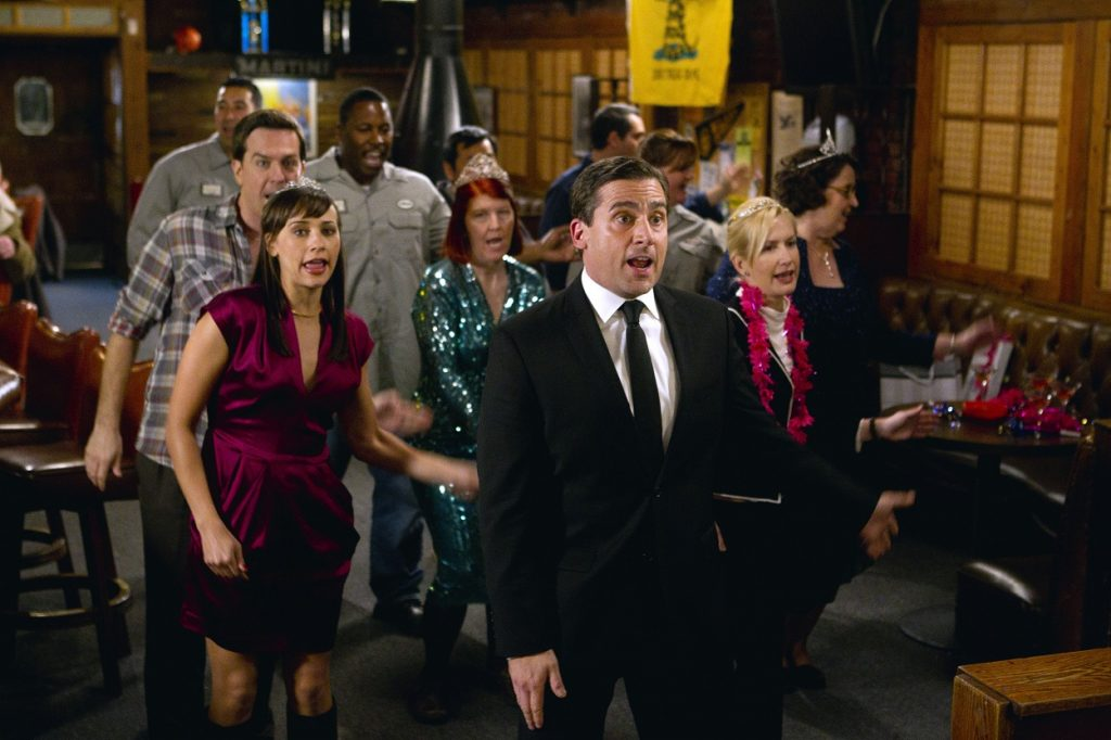 The Office cast filming the Threat Level Midnight episode