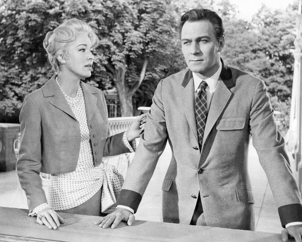 Christopher Plummer as Captain Von Trapp and Eleanor Parker as The Baroness in the musical film 'The Sound of Music'