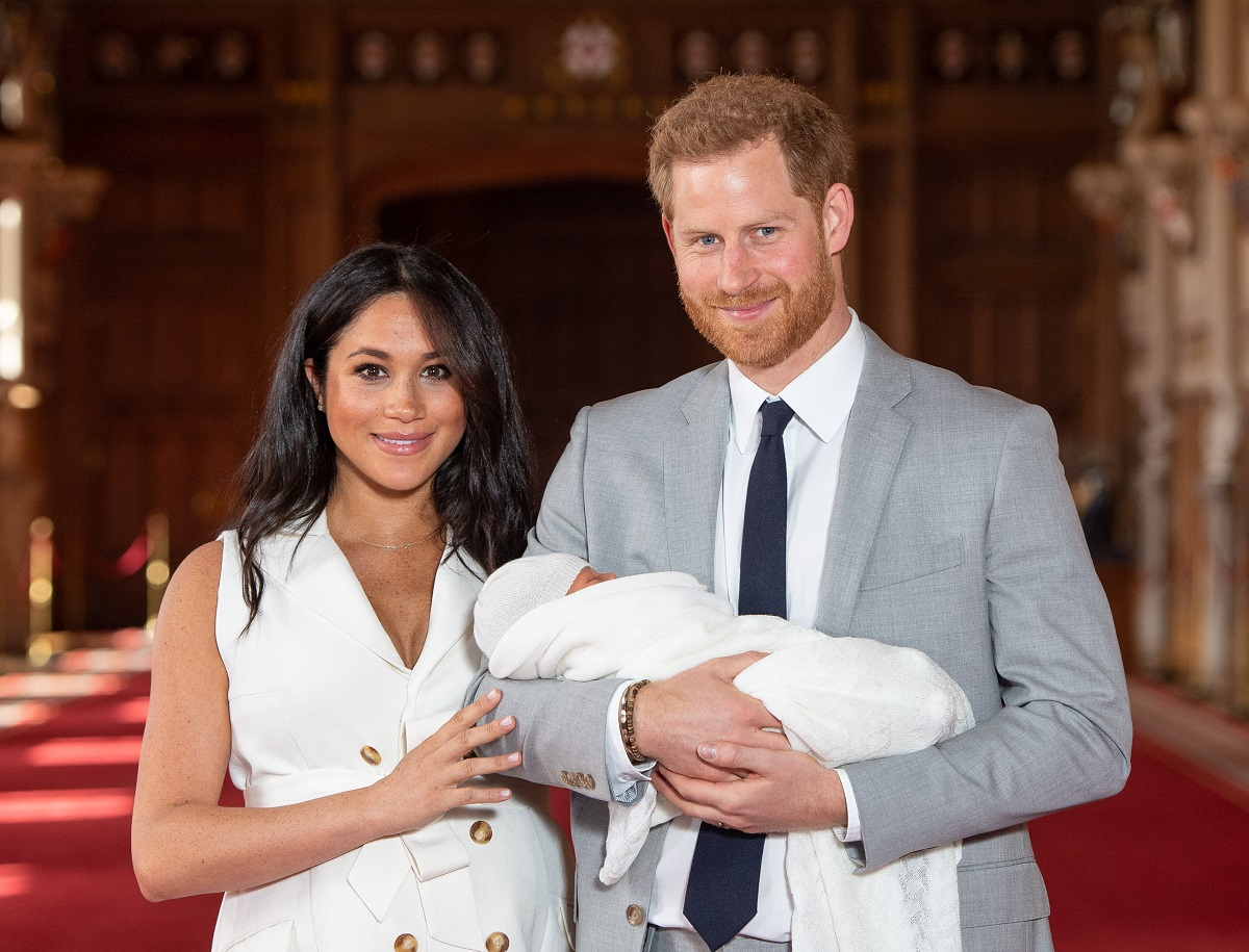 The Duke and Duchess of Sussex with their son, Archie, at Windsor Castle in 2019