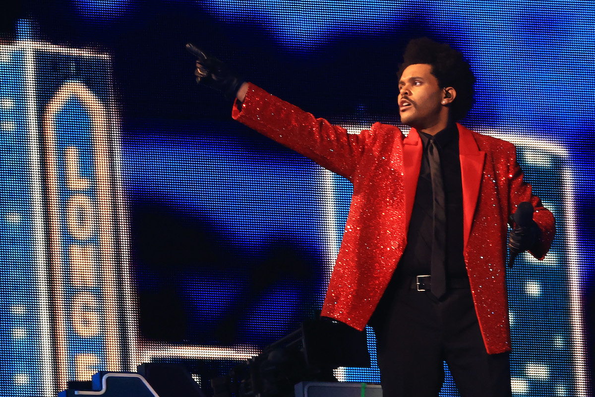 The Weeknd performs during the Super Bowl Halftime Show