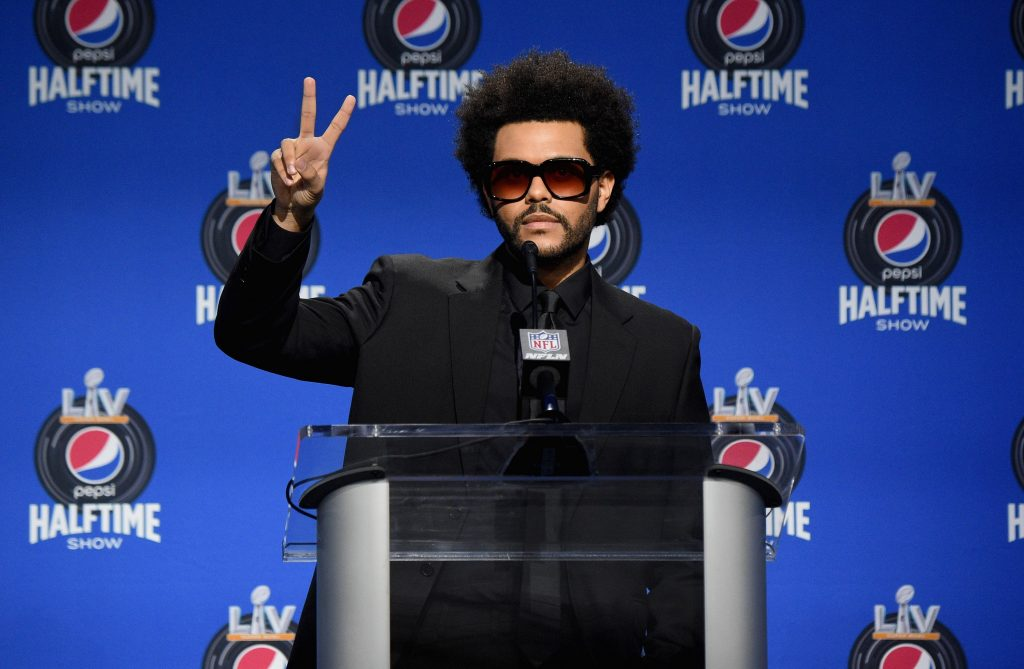 The Weeknd ahead of the 2021 Super Bowl halftime show