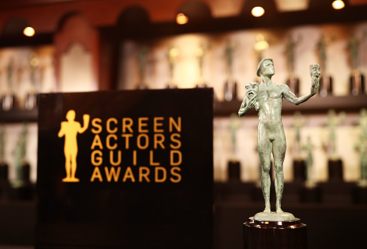 The 'actor' statue inside the Trophy Room at the 24th Annual Screen Actors Guild Awards in 2018