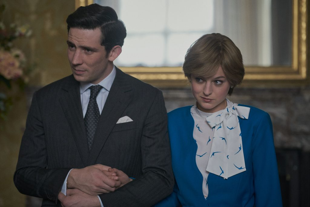 Golden Globe nominees Prince Charles (Josh O'Connor) and Princess Diana (Emma Corrin) in 'The Crown.'