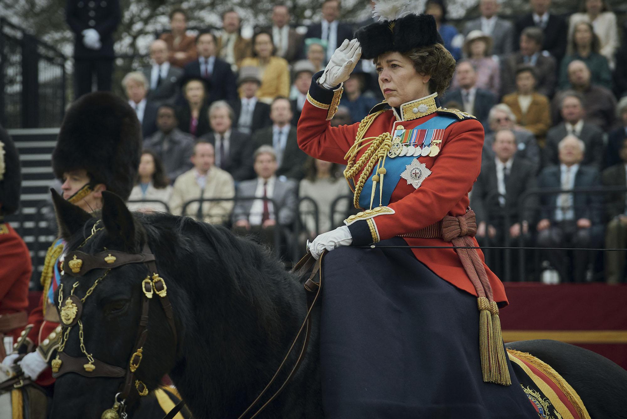 Olivia Colman as Queen Elizabeth II in 'The Crown' Season 4.