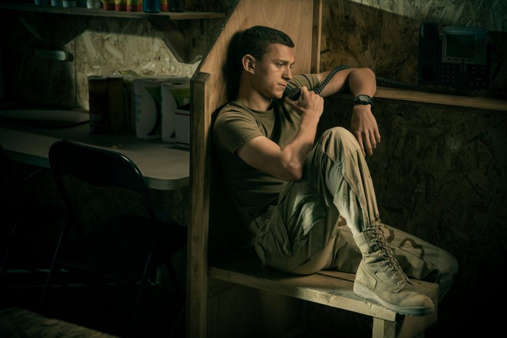 Tom Holland as Cherry in the Army