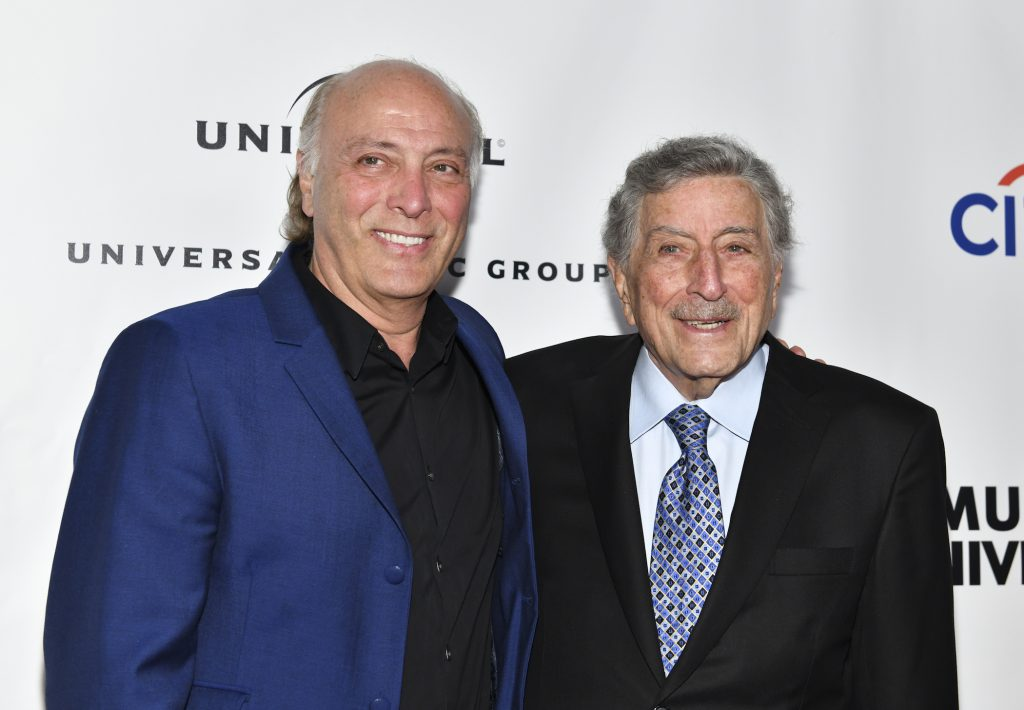CEO Danny Bennett (L) and Tony Bennett attend the Universal Music Group's 2019 After Party