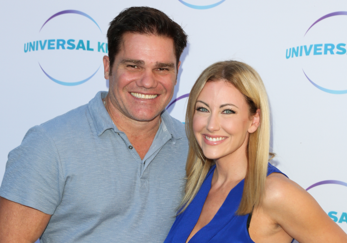 Reality TV Personality Stephanie Hollman (R) and her Husband Travis Hollman (L) attend the Universal Kids family event