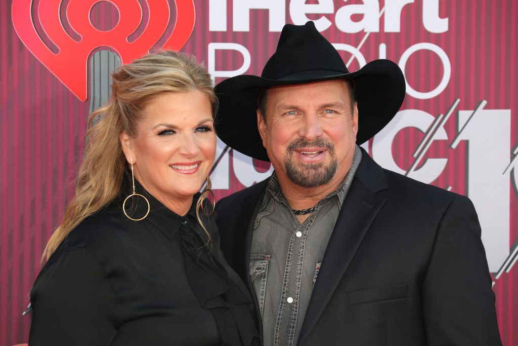 Garth Brooks and wife Trisha Yearwood smiling together