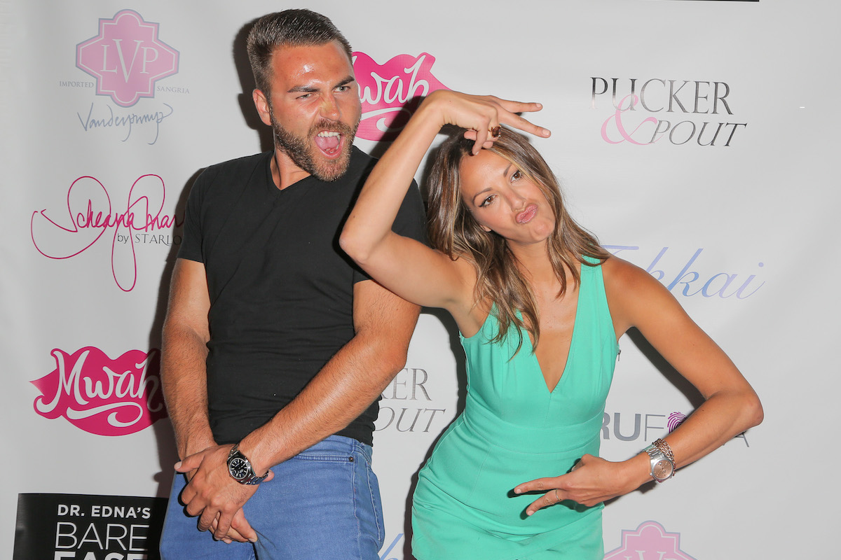 Aleks Taldykin and Kristen Doute attend Katie Maloney's Pucker and Pout launch party