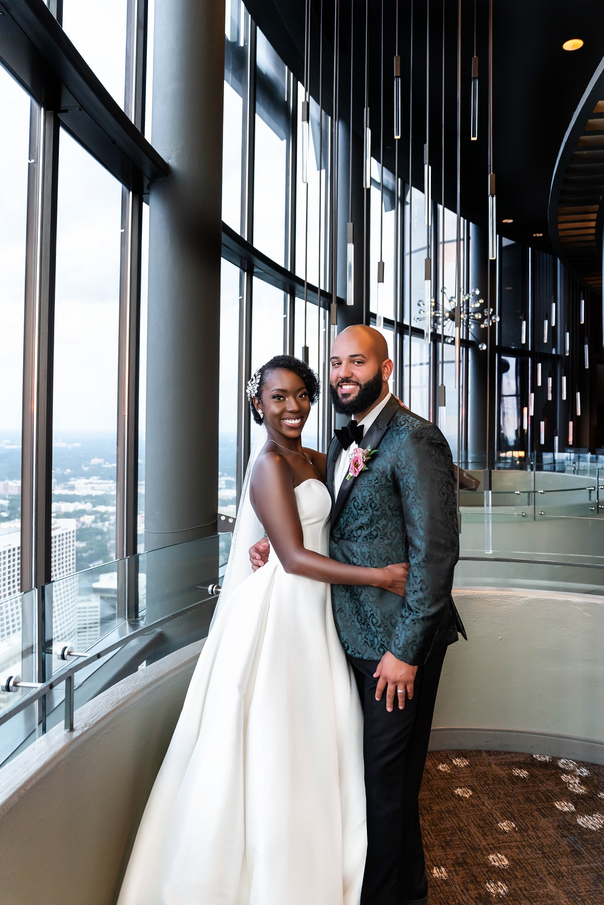 Briana and Vincent of 'Married at First Sight' smiling on their wedding day