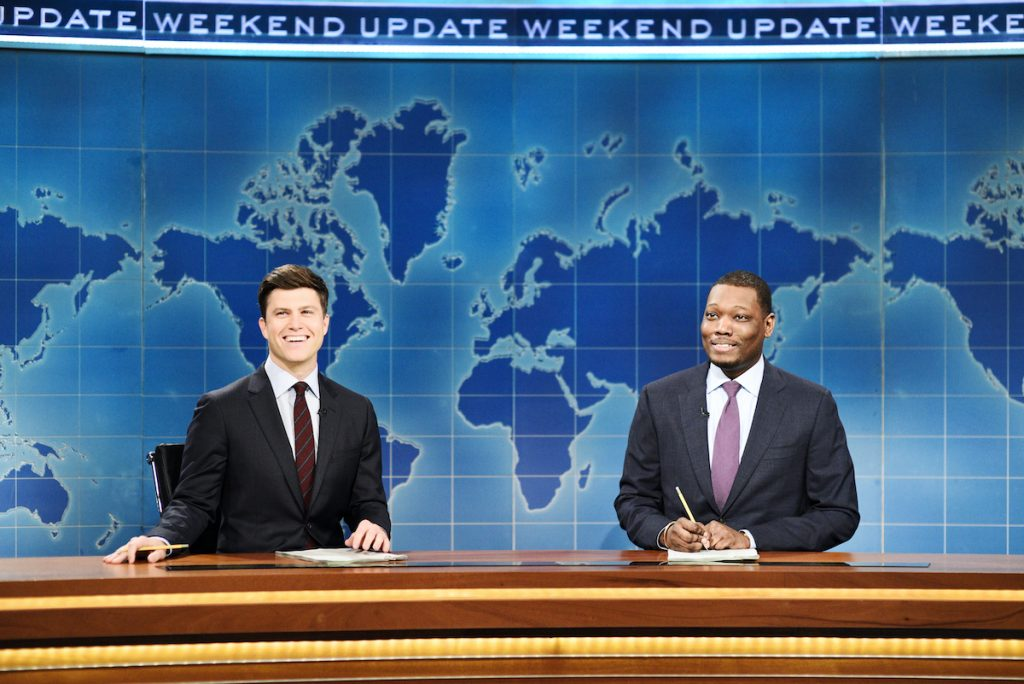 'SNL Weekend Update' hosts Colin Jost and Michael Che