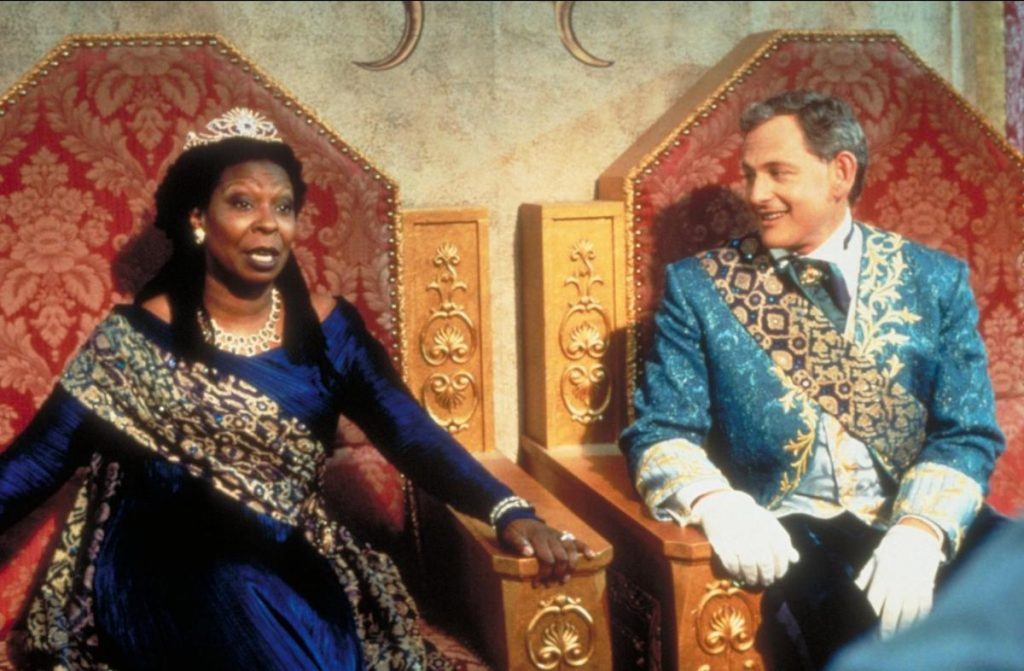 Whoopi Goldberg and Victor Garber as the Queen and King in 'Rodgers and Hammerstein's Cinderella' on ABC, 1997 | Disney