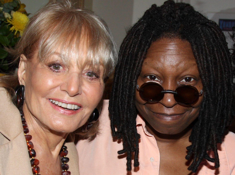 Whoopi Goldberg and Barbara Walters