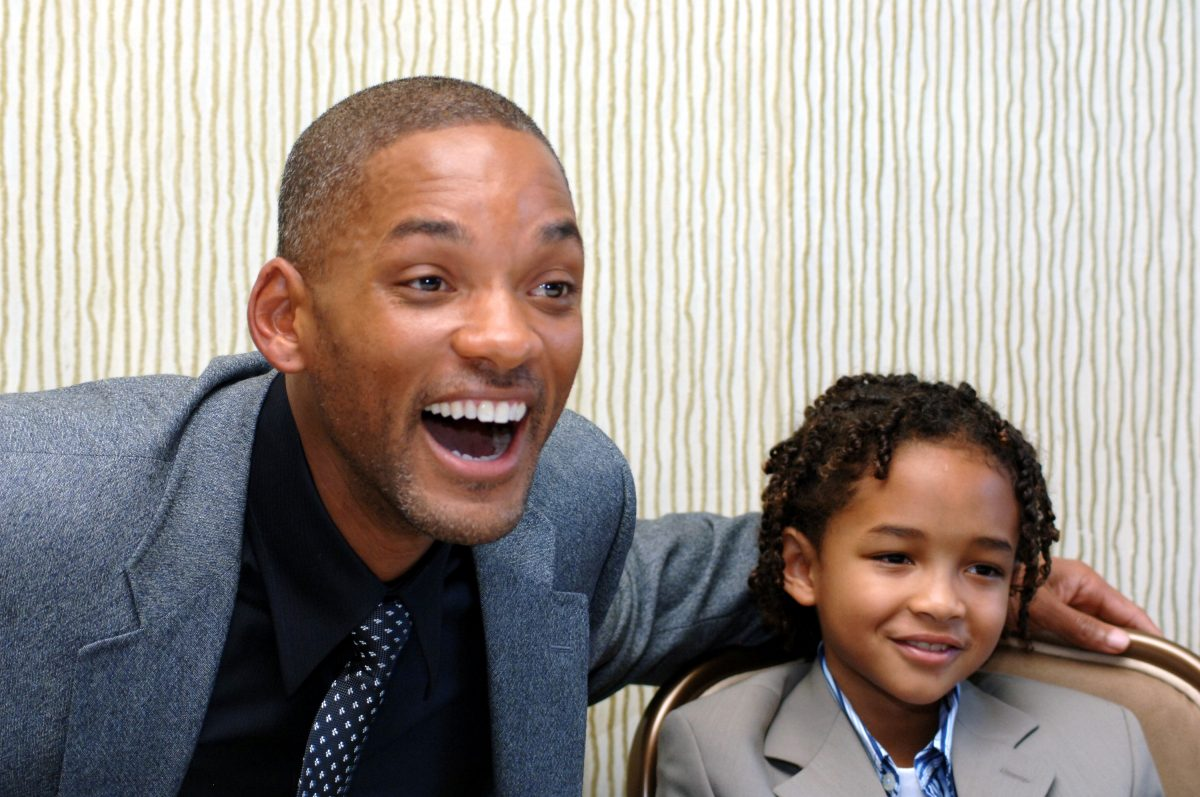 Will Smith and Jaden Smith at the Pursuit of Happyness press conference