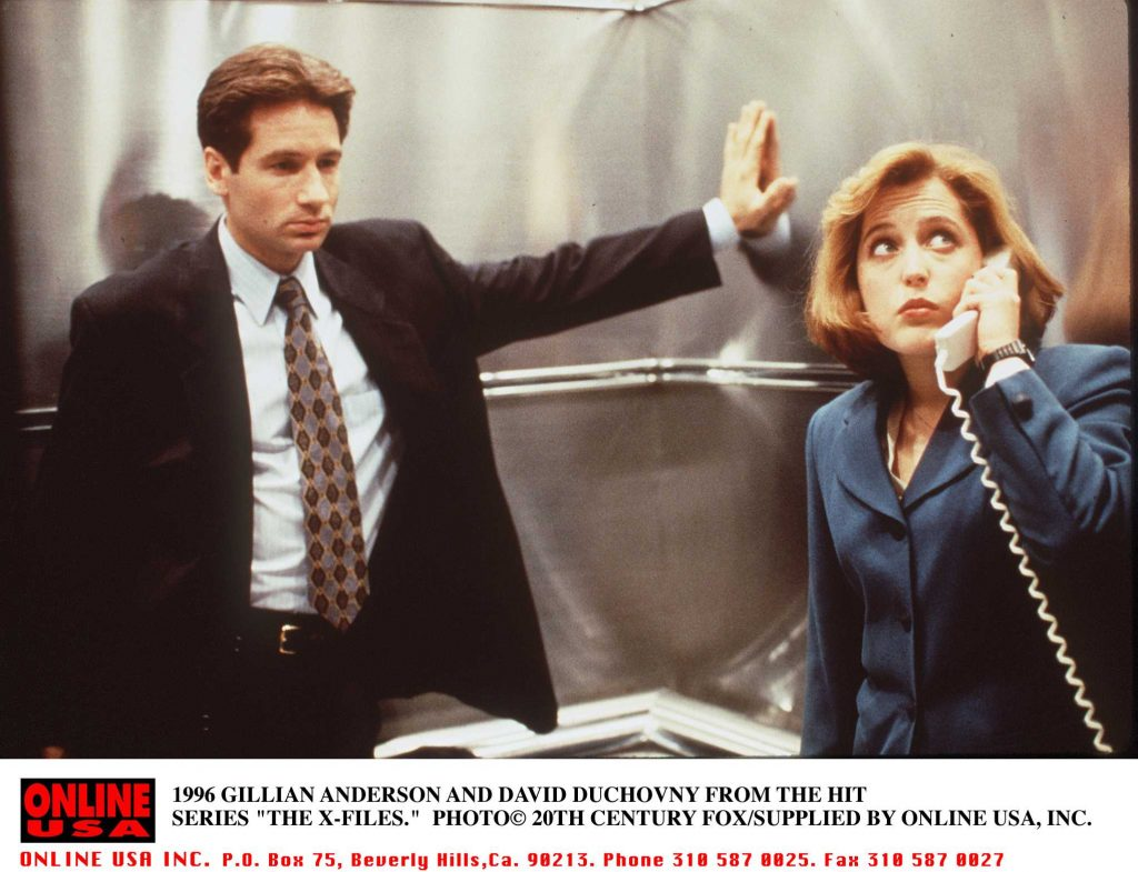Gillian Anderson and David Duchovny of series 'X-FILES'