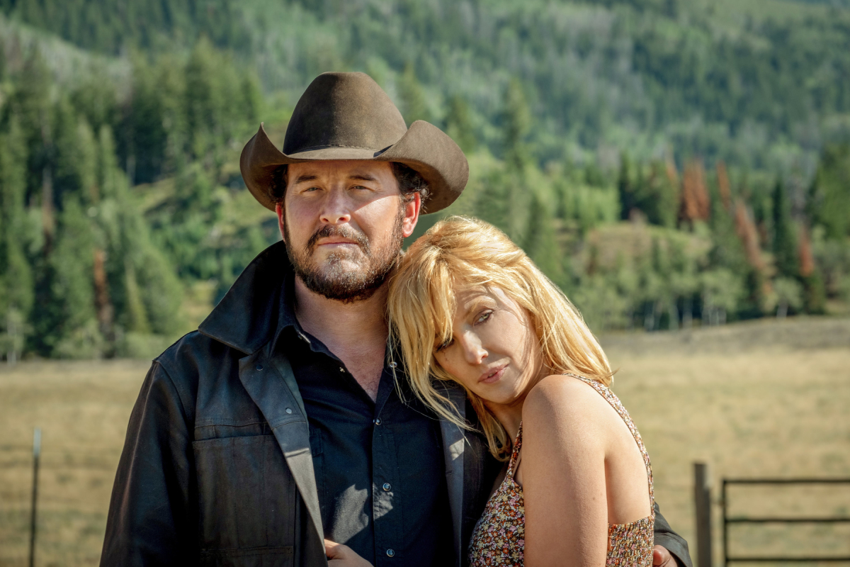 yellowstone season 4 stars Cole Hauser as Rip Wheeler and Kelly Reilly as Beth Dutton