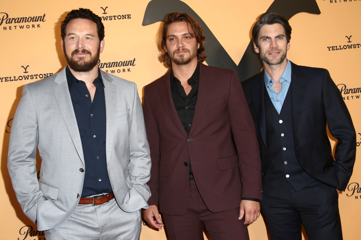 Yellowstone stars Cole Hauser Luke Grimes and Wes Bentley in 2019