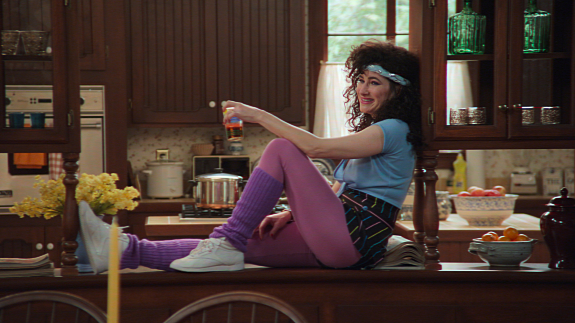 Kathryn Hahn as Agnes in her 80s outfit in 'WandaVision'