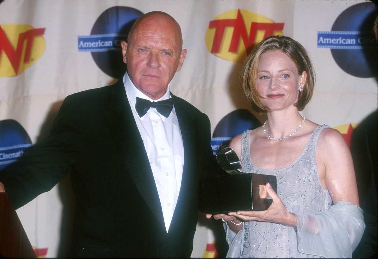 Anthony Hopkins and Jodie Foster during The 14th Annual Moving Picture Ball