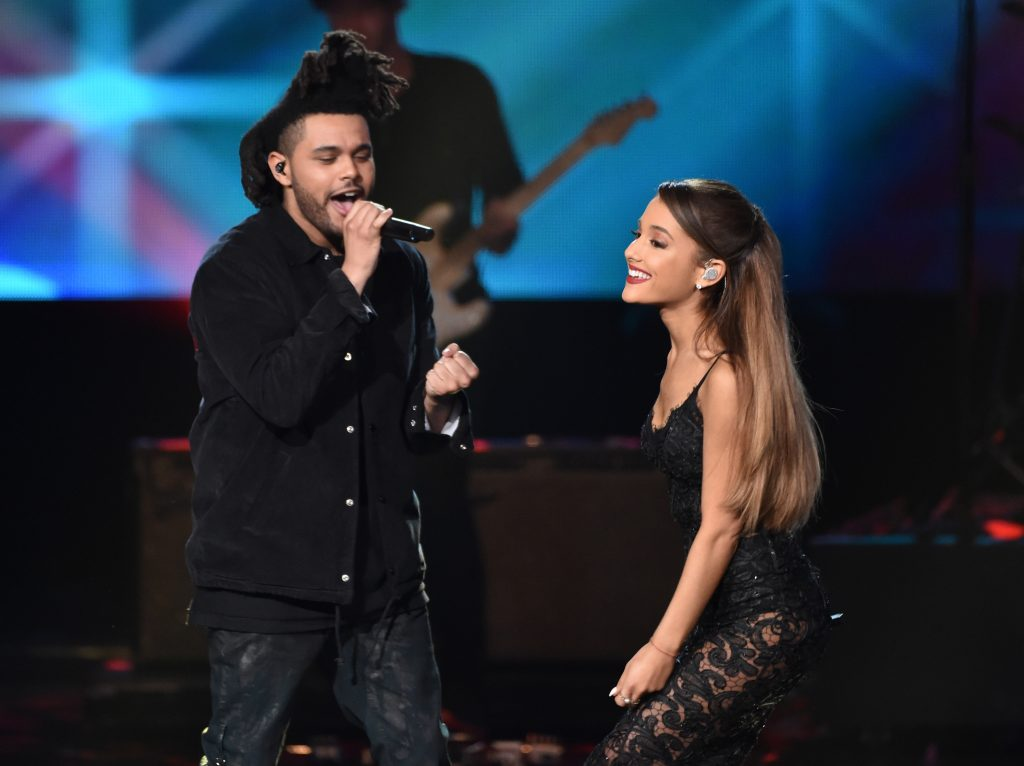 The Weeknd and Ariana Grande in 2014