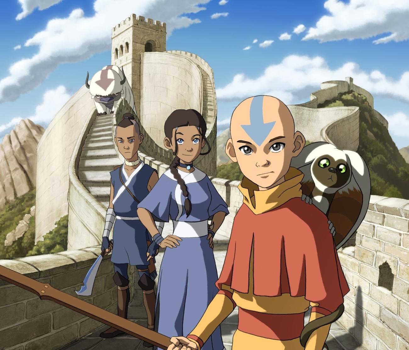Avatar: The Last Airbender characters Aang, Katara, and Sokka