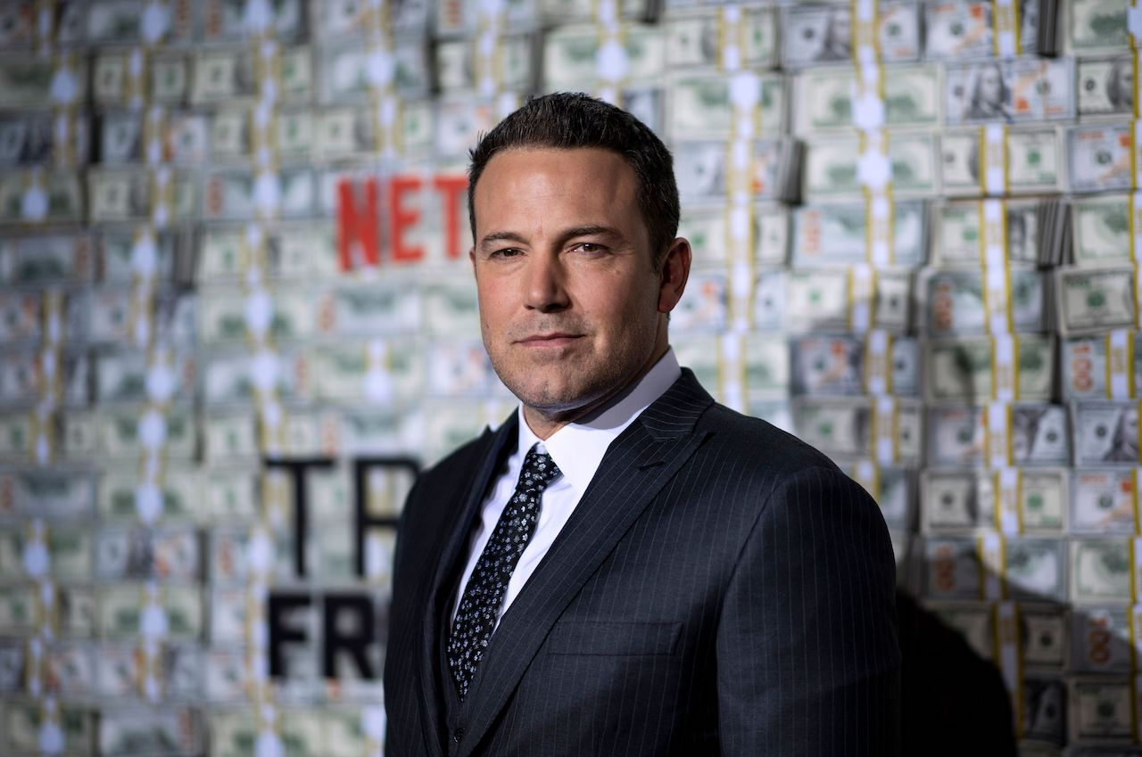 """Ben Affleck poses as he arrives for the world premiere of """"Triple Frontier"""""""