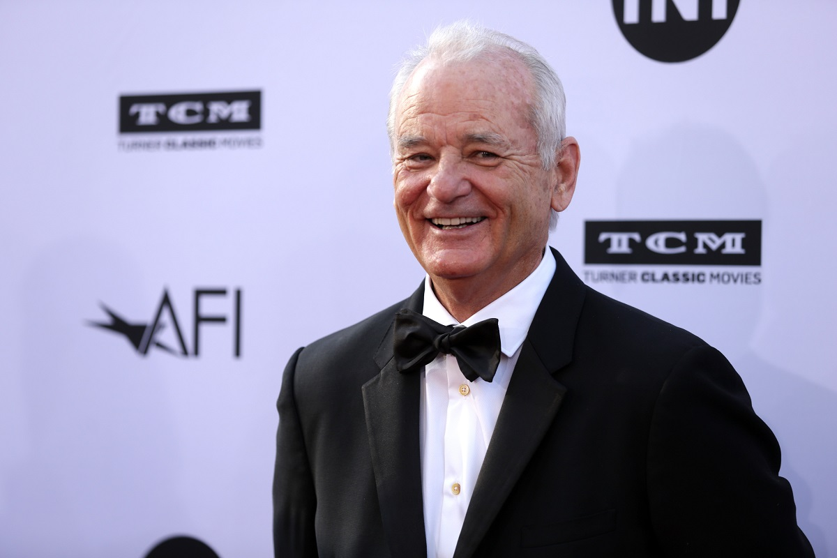 Bill Murray smiling in a tux