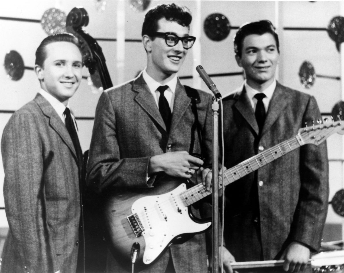 Buddy Holly with band members