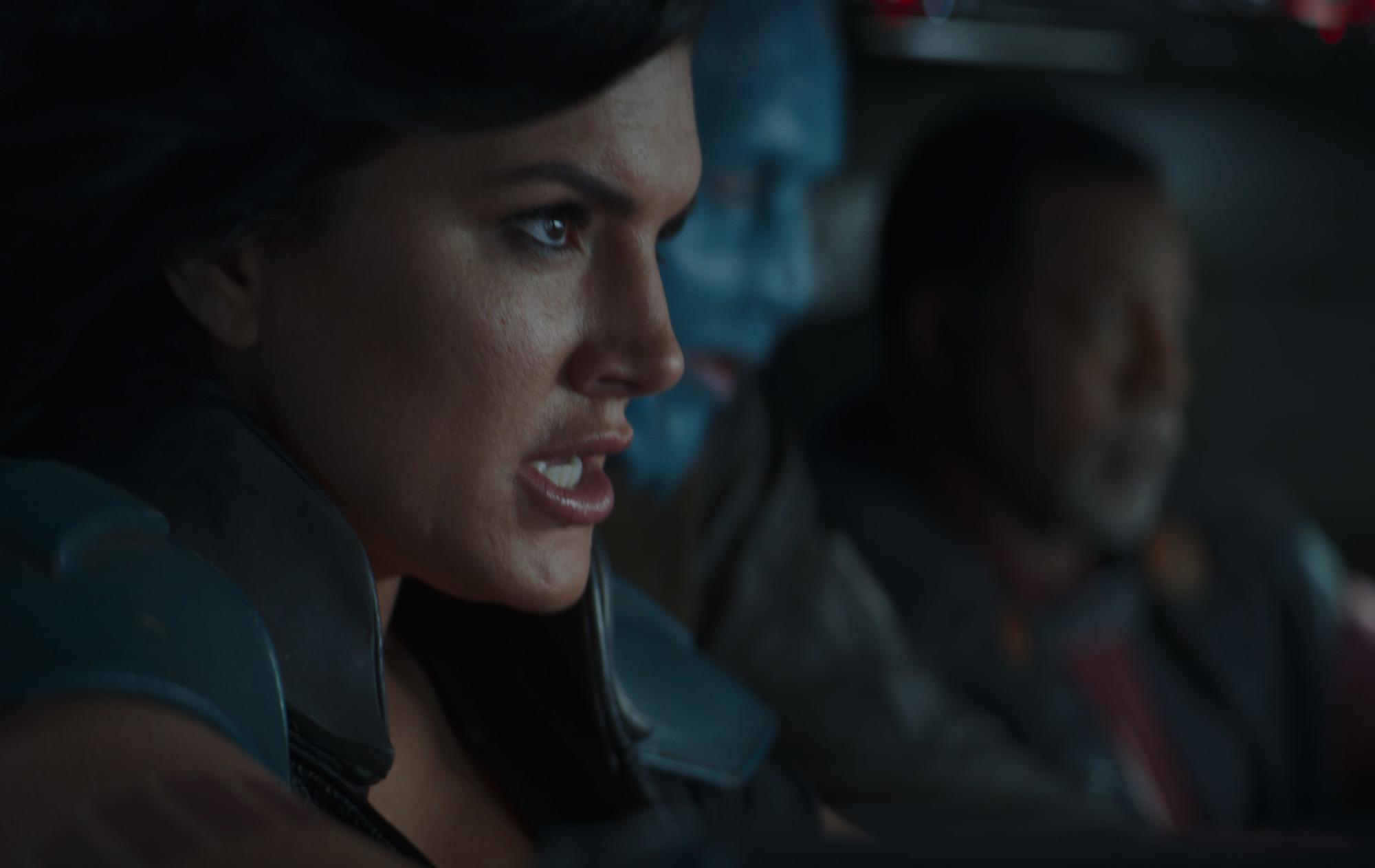 Gina Carano as Cara Dune and Carl Weathers as Greef Karga in Season 2 of 'The Mandalorian'