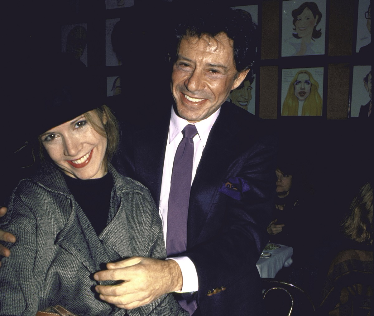 (L-R) Carrie Fisher and Eddie Fisher at opening night party for Carrie's Broadway play 'Agnes of God.'