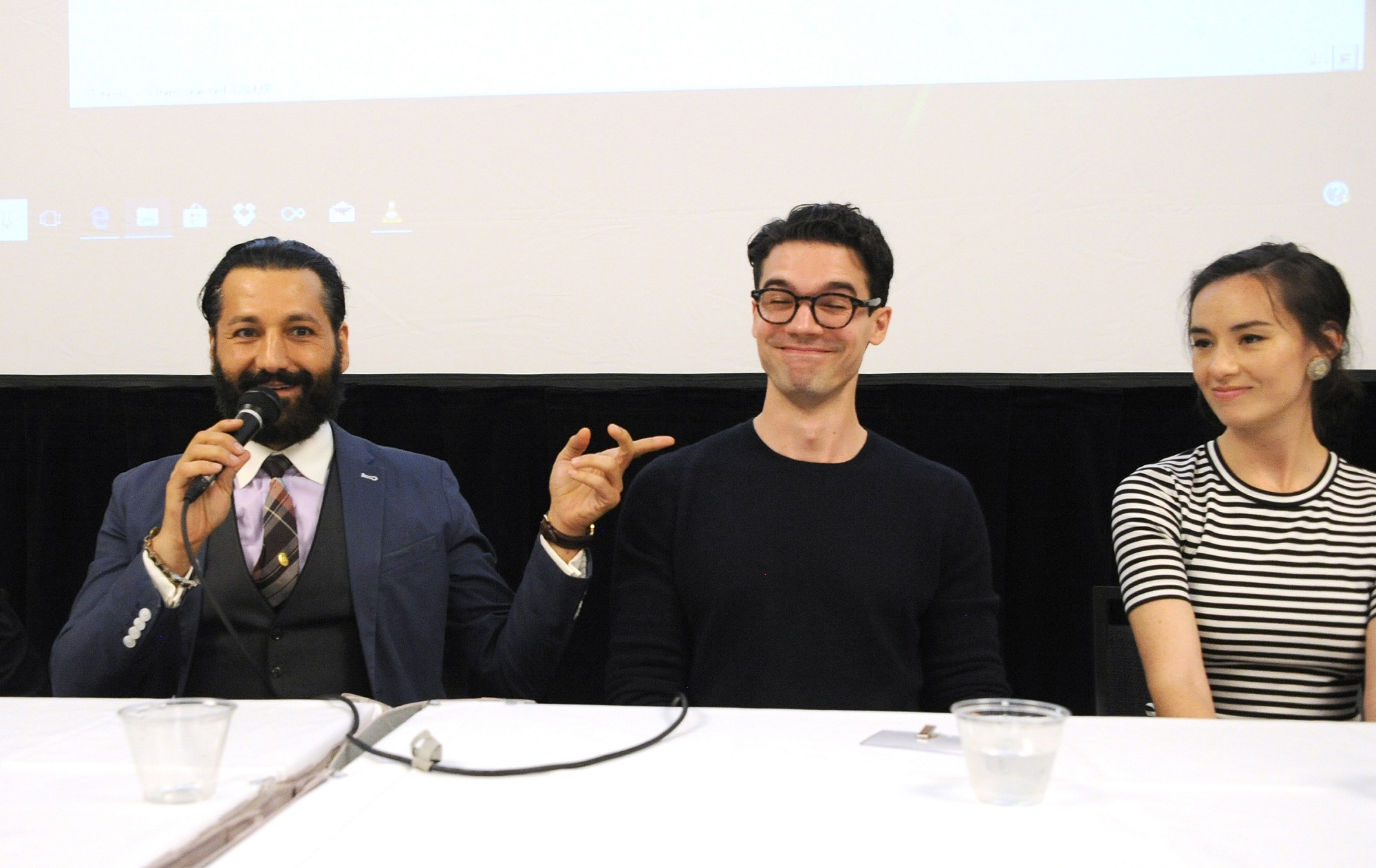 Cas Anvar, Steven Strait, and Cara Gee of The Expanse