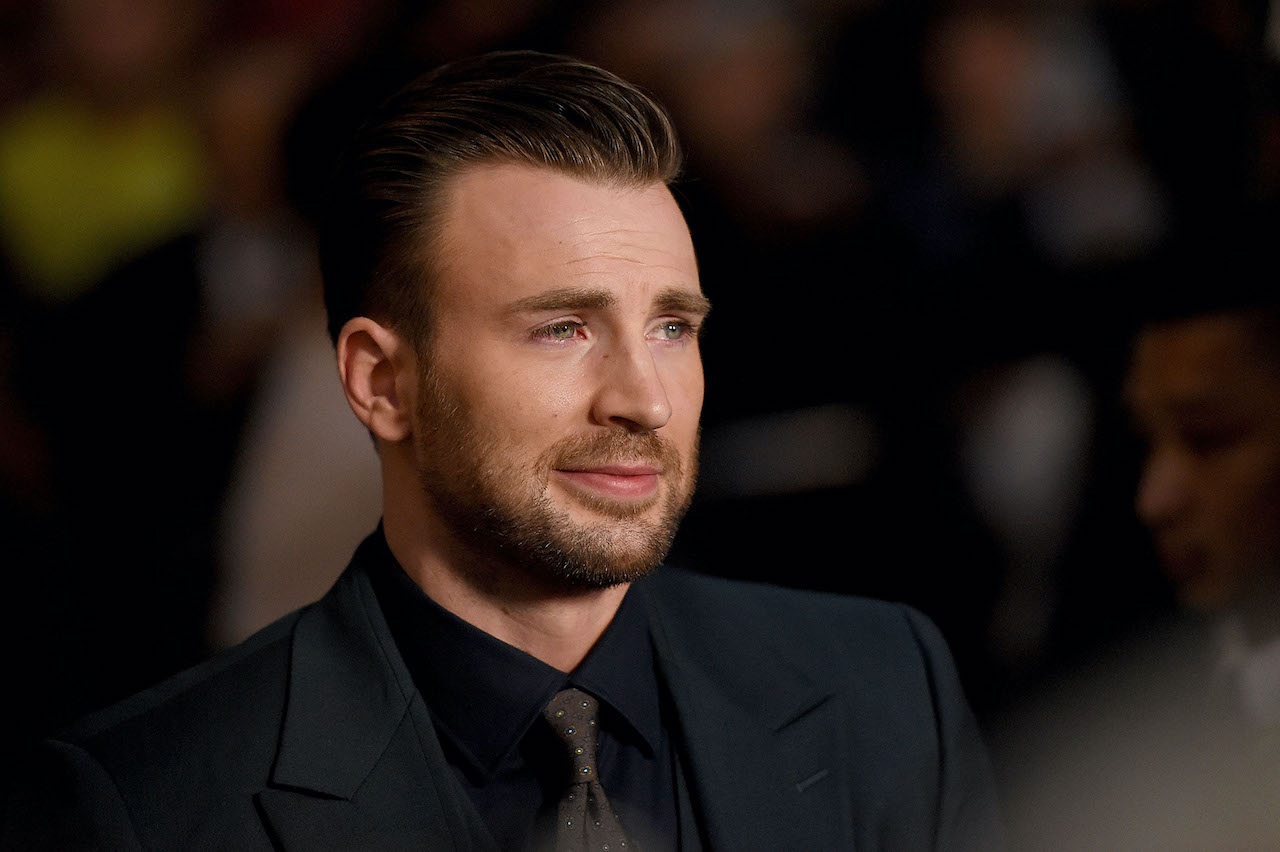 "Chris Evans attends the premiere of Radius and G4 Productions' ""Before We Go"""