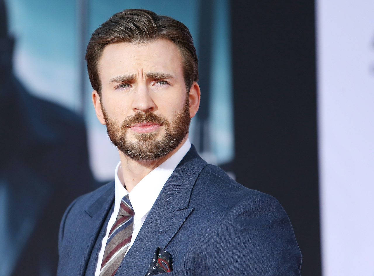 "Chirs Evans arrives the premiere of ""Captain America: The Winter Soldier"""