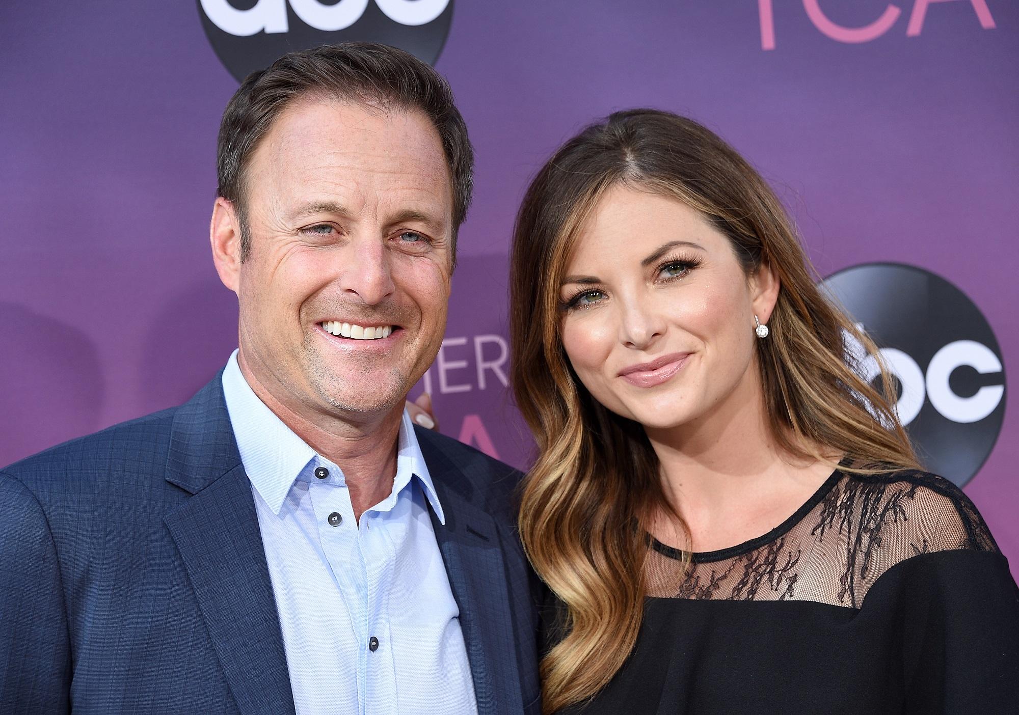 The Bachelor host Chris Harrison and girlfriend Lauren Zima