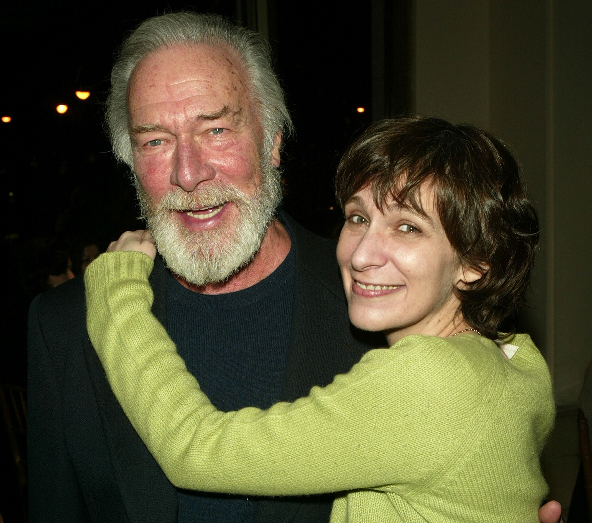 (L-R): Christopher Plummer and daughter Amanda Plummer attend the after party for Lincoln Centers opening night of 'King Lear' on March 4, 2004, in New York City.