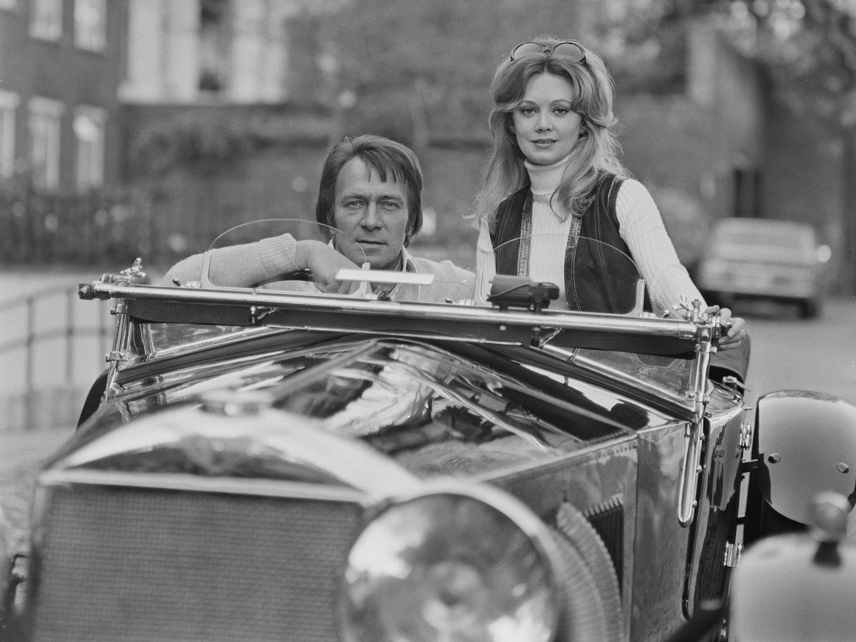Christopher Plummer and his wife Elaine Taylor in his 40-year-old Invicta, UK, 22nd October 1971.