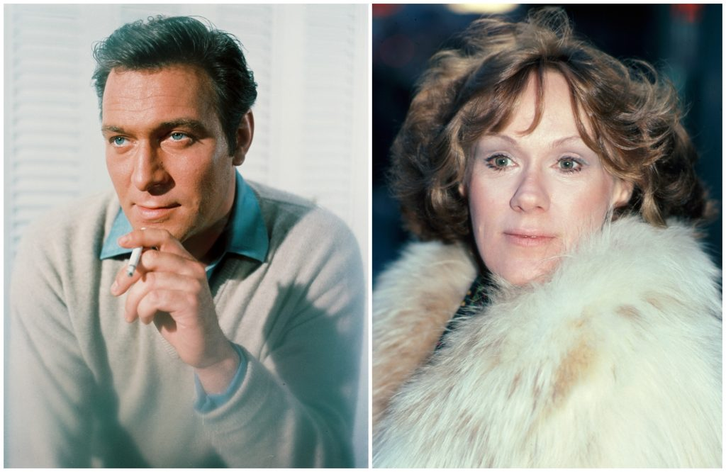 composite image of Christopher Plummer and Tammy Grimes