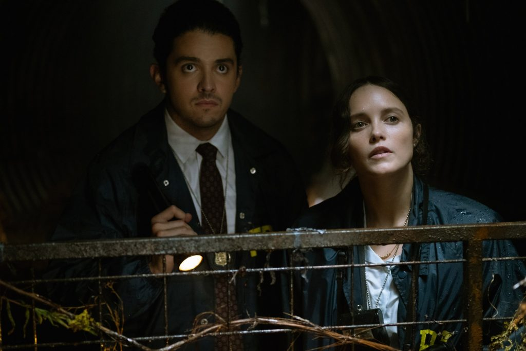 Lucca de Oliveira as Tomas Esquivel and Rebecca Breeds as Clarice Starling in 'Clarice'