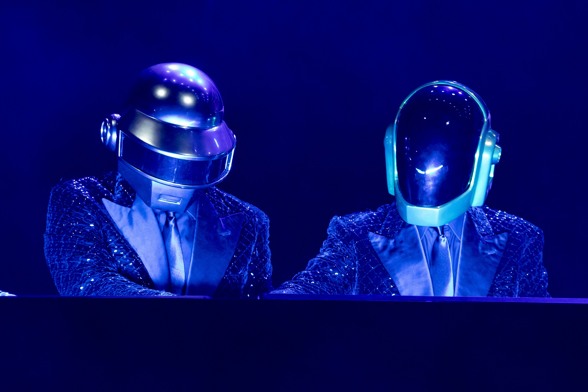 Daft Punk's helmets are an iconic part of their performances