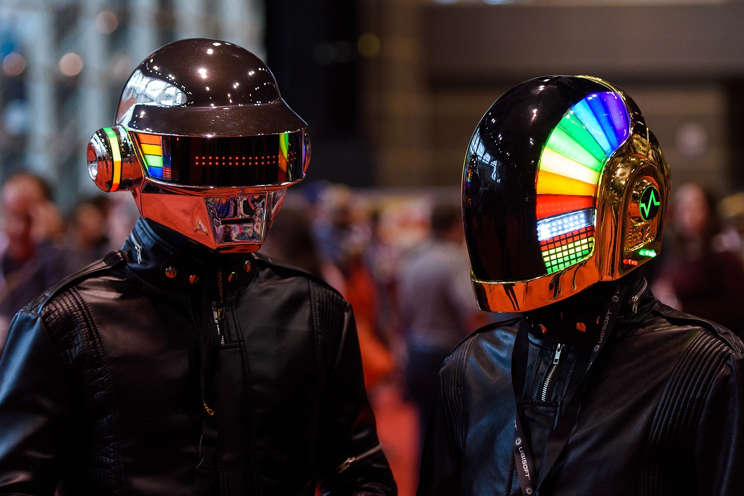 Cosplayers dressed as Daft Punk