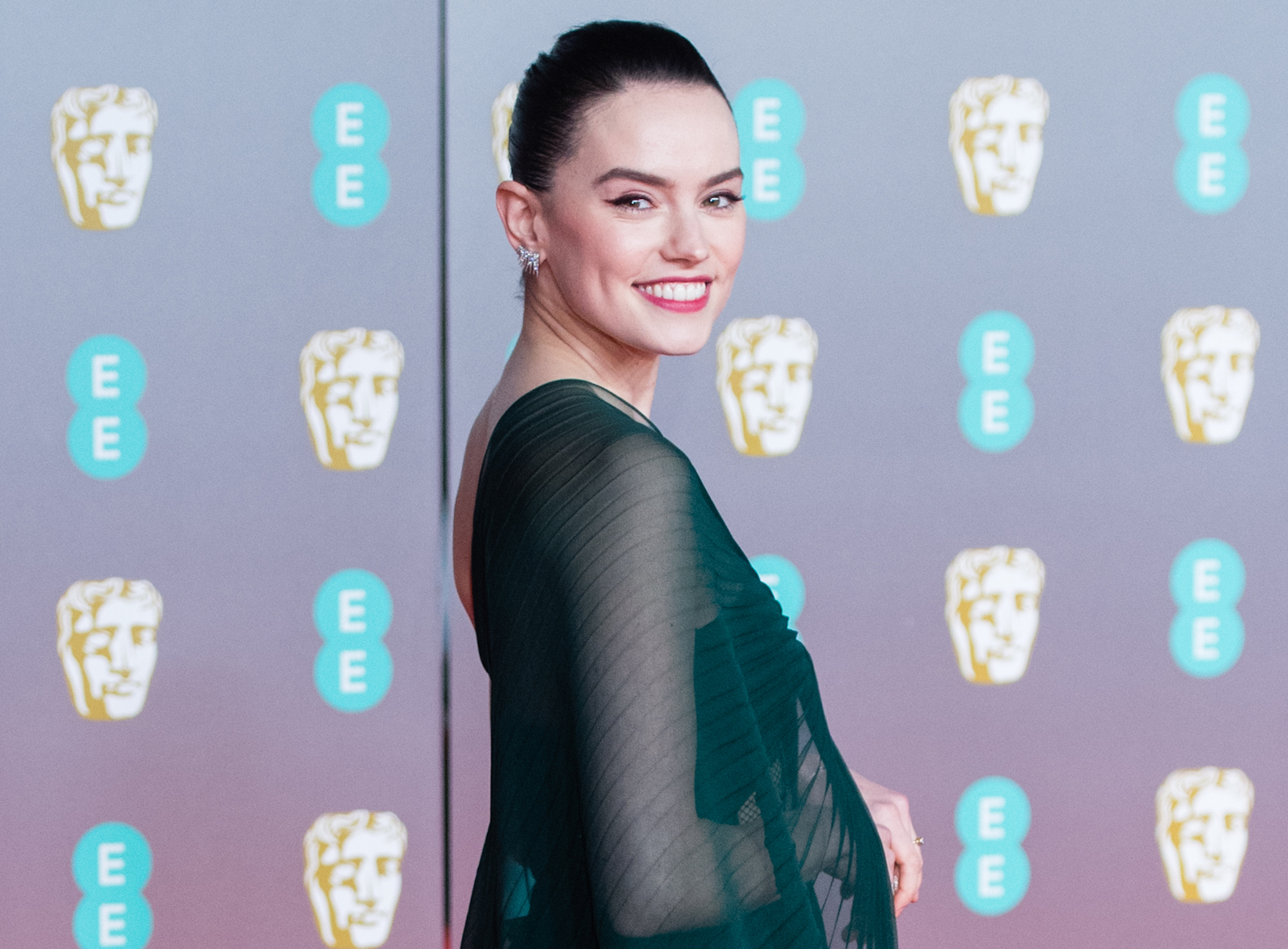 Daisy Ridley at the EE British Academy Film Awards 2020 on Feb. 02, 2020.